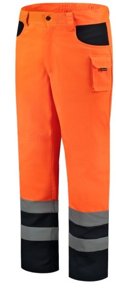 TRICORP-Arbeits-Berufs-Bund-Hose, EN ISO 20471, Bicolor, Basic Fit, 280 g/m², fluor orange-navy
