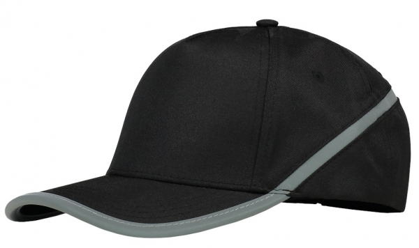 TRICORP-Cap Reflexstreifen, Basic Fit, black