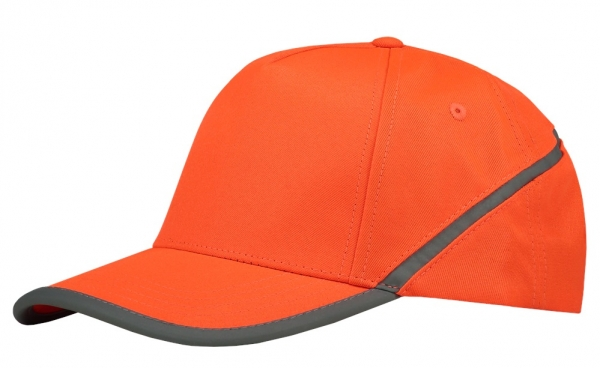 TRICORP-Cap Reflexstreifen, Basic Fit, fluor orange