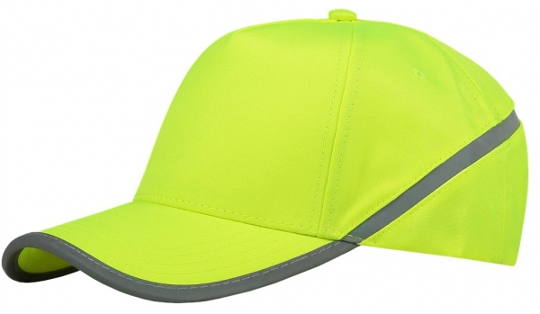 TRICORP-Cap Reflexstreifen, Basic Fit, fluor yellow
