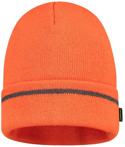 TRICORP-Mütze Reflexstreifen, Basic Fit, fluor orange
