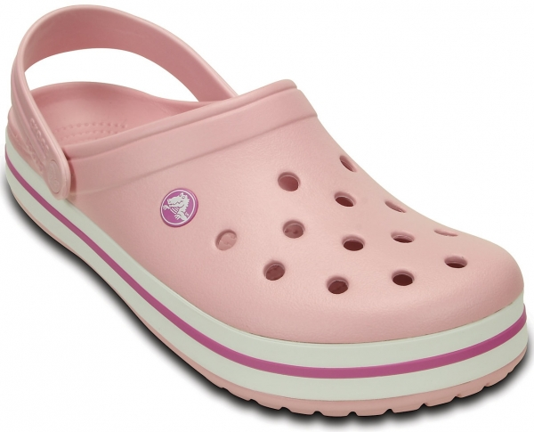 CROCS-Crocband-Arbeits-Berufs-Clogs, pearl pink/wild orchid