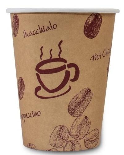 PL-Hygiene, Kaffeebecher Coffee to go, 300ccm, beschichtet, Ktn. á 1000 Stk.