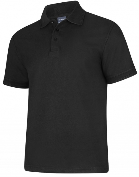 Uneek-Clothing-Deluxe Poloshirt, schwarz