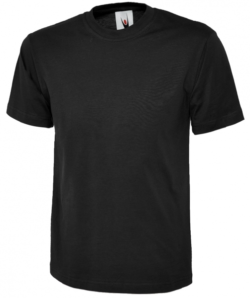 Uneek-Clothing-Classic T-Shirt, schwarz