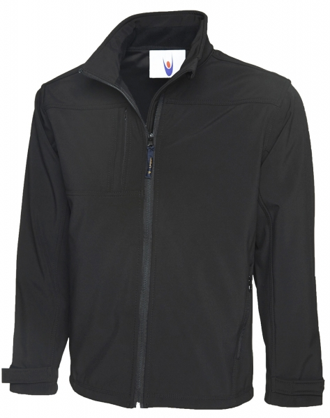Uneek-Clothing-Premium Full Zip Softshell Jacket, schwarz