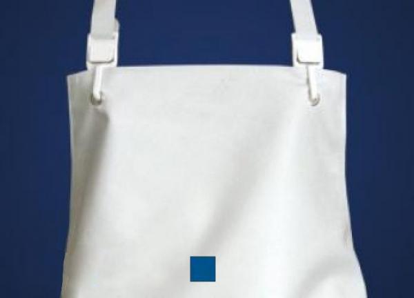 SCHLACHTHAUSFREUND-Ischü-Schürze, Gummischürze 1001, Kante offen, blau