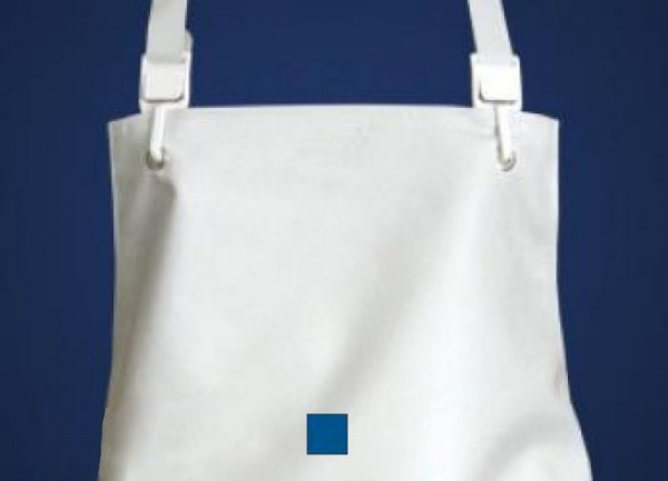 SCHLACHTHAUSFREUND-Ischü-Schürze, Gummischürze 1003, Kante offen, blau