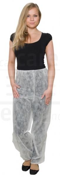 WIROS-Einweg-Vlies Hose, lang, ohne Taschen, Gummizugbündchen in Taille & Beinenden, 30 g/m², 146 x 124 cm, Polybeutel, VE: 50 Stück, dunkelblau