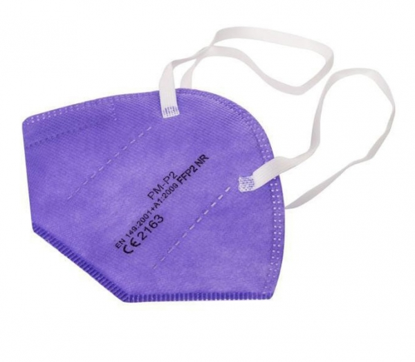 Atemschutz Mundschutz FFP 2 Maske, lila, VE = 5 Stück