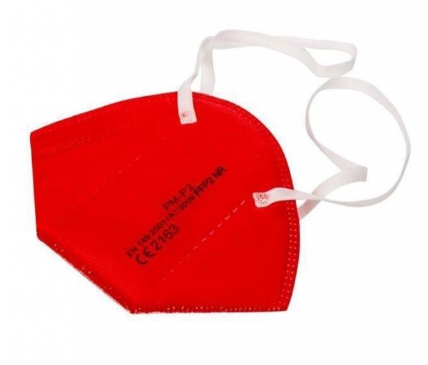 Atemschutz Mundschutz FFP 2 Maske, rot, VE = 5 Stück