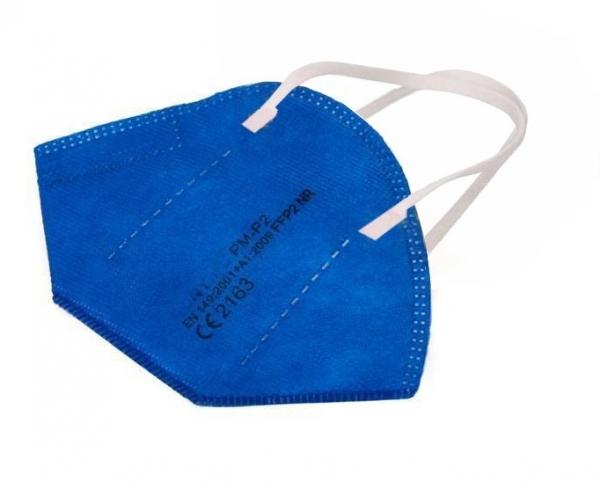 Atemschutz Mundschutz FFP 2 Maske, blau, VE = 5 Stück