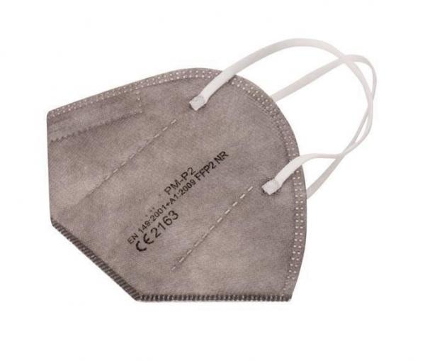 Atemschutz Mundschutz FFP 2 Maske, grau, VE = 5 Stück