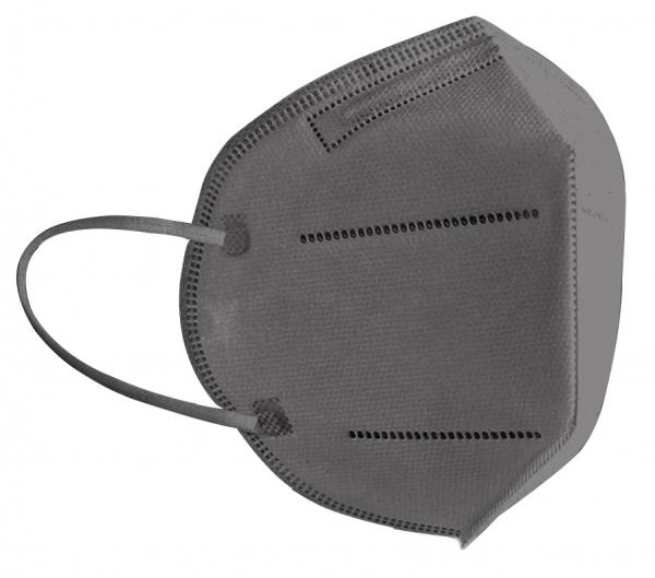 FFP2 Atemschutzmaske Komfort2, 6er, Made in Germany, grau