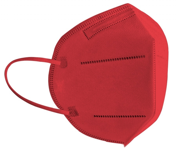 FFP2 Atemschutzmaske Komfort2, 6er, Made in Germany, rot