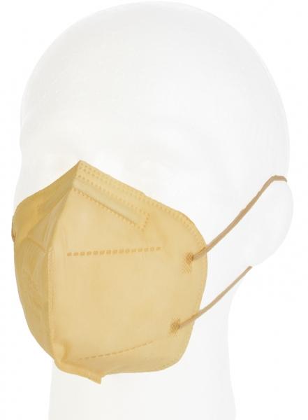 FFP2 Atemschutzmaske Komfort2, 10er, sandfarbe