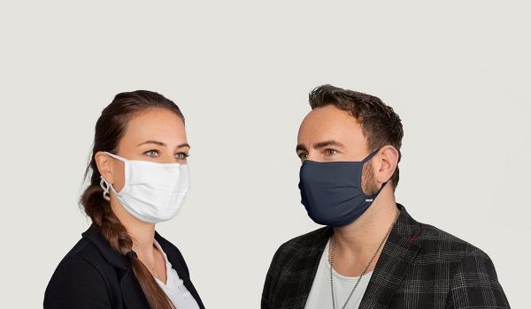 Hakro Mund-Nasen-Maske ( wiederverwendbar ) weiß