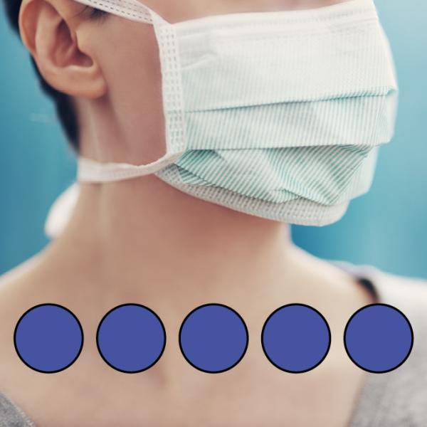 LEIBER-Mund-Nasen-Maske (wiederverwendbar), Bindebänder, königsblau