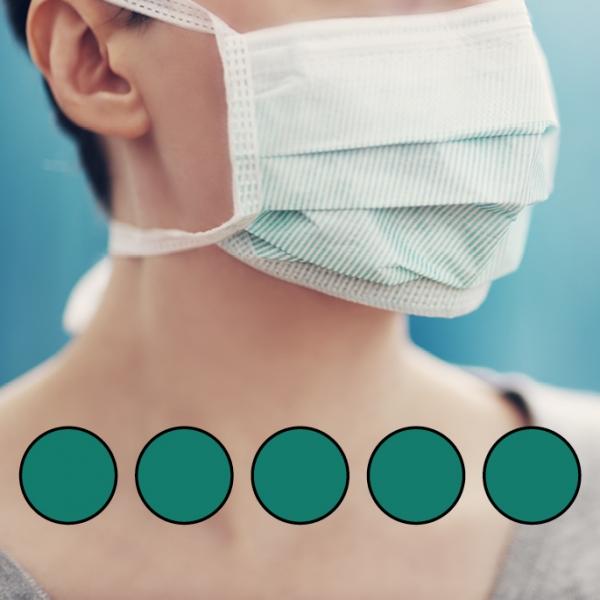LEIBER-Mund-Nasen-Maske (wiederverwendbar), Bindebänder, gärtnergrün