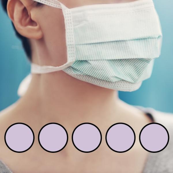 LEIBER-Mund-Nasen-Maske (wiederverwendbar), Bindebänder, flieder