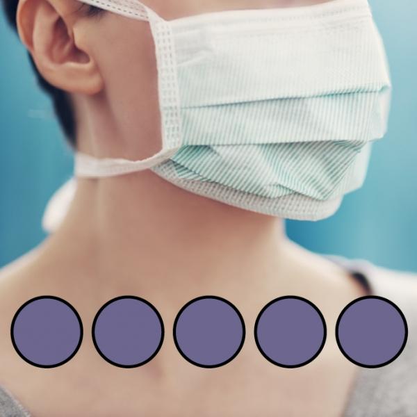 LEIBER-Mund-Nasen-Maske (wiederverwendbar), Bindebänder, lila
