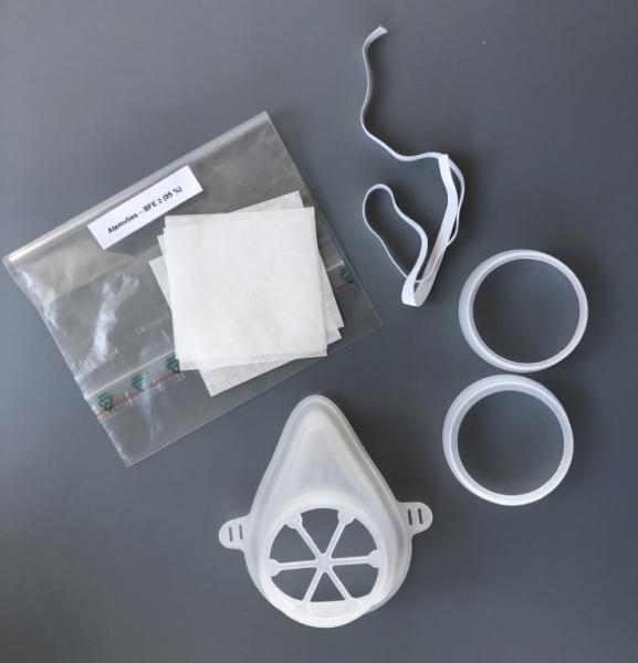 """Mund-Nase-Bedeckung - Neuheit """"FaireMasken"""", mit Filter, weiß"""