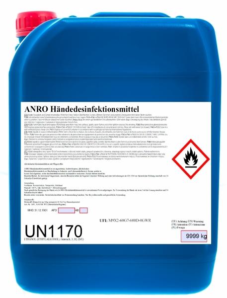 BIO-TEC-Anro - Händedesinfektion - Hand-Desinfektionsmittel, 10 lt