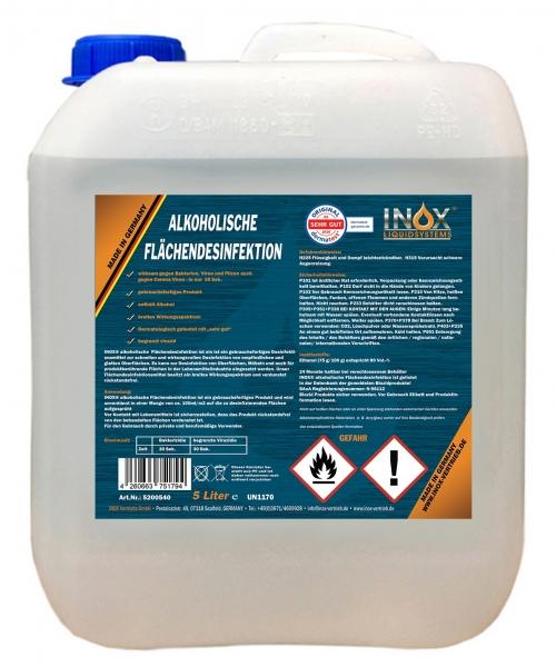 INOX Alkoholische Flächendesinfektion für Oberflächen, 5L Kanister