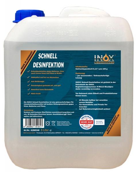 INOX Schnell Desinfektion für Oberflächen, 5L Kanister