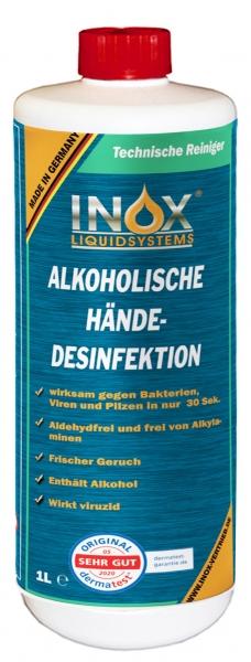 INOX Alkoholische Händedesinfektion für Hände, 1 Liter