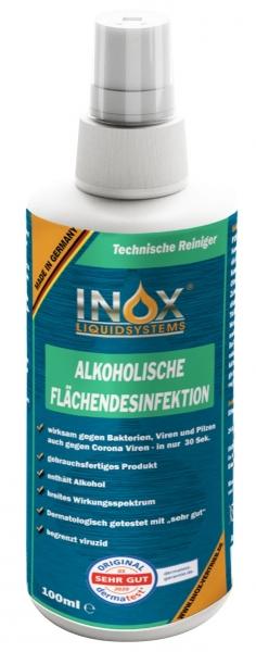 INOX Alkoholische Flächendesinfektion für Oberflächen, 100 ml