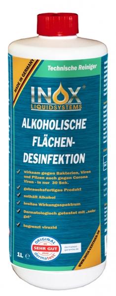 INOX Alkoholische Flächendesinfektion für Oberflächen, 1 Liter
