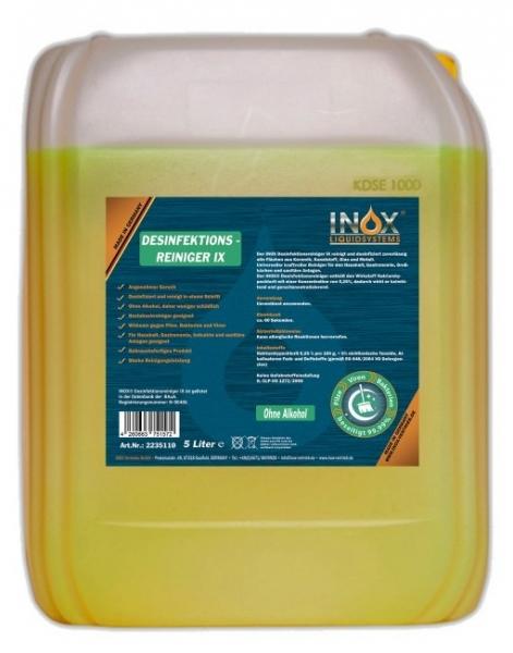 INOX Desinfektionsreiniger IX, 5L Kanister