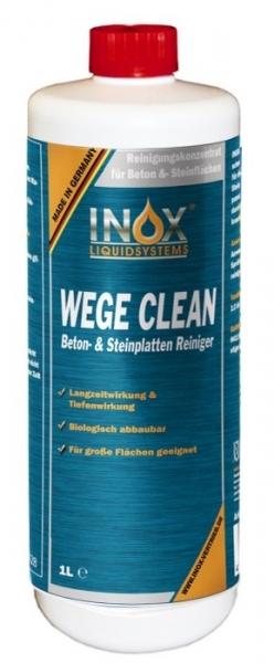 INOX-Wege-Clean-Reiniger, Steinreiniger, Grünbelag-Entfernung, 1 Liter Fl.