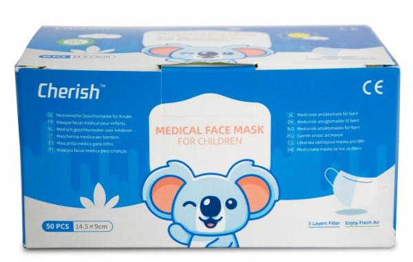 Kinder Mund-Nasen-Maske, 3-lagig, Pkg. á. 50 Stück