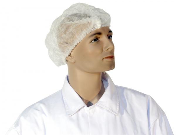 GOFOOD Klipphauben, PP-Vlies, weiß, 52 cm, Beutel á 100 Stück