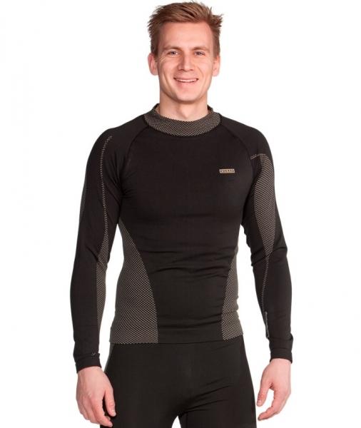 OCEAN-Funktionsunterwäsche-Bamboo-Hemd, schwarz