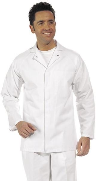 LEIBER Food-Arbeits-Berufs-Jacke für Damen und Herren, HACCP-Hygiene-Bekleidung,  MG 245, weiß