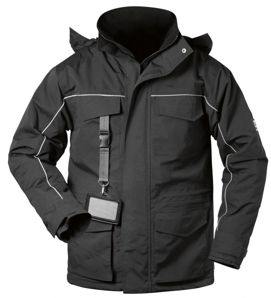 F-ELYSEE, Thermo-Winter-Arbeits-Berufs-Jacke, BLACKPOOL, schwarz/schwarz