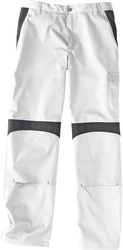 KÜBLER-Workwear-Arbeits-Berufs-Bund-Hose, Inno Plus Dress, MG 300, weiß/anthrazit