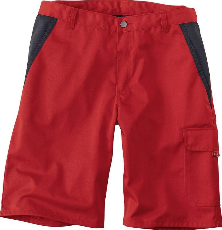 KÜBLER-Workwear-Bermuda-Arbeits-Berufs-Shorts, Inno Plus Dress, ca. 300 g/m², mittelrot/schwarz