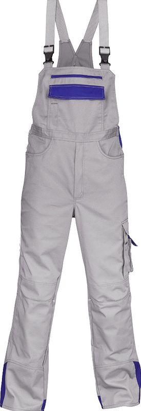 KÜBLER-Workwear-Arbeits-Berufs-Latz-Hose, Image Vision Dress, MG 295, hellgrau/kornblau