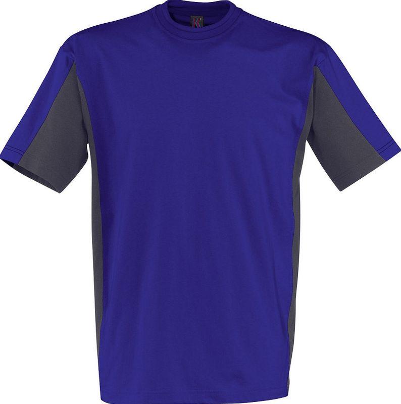 KÜBLER-Workwear-T-Shirt Shirt Dress, MG 160, kornblau/anthrazit