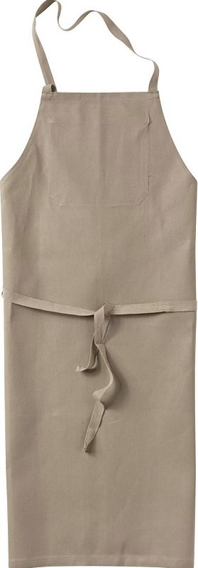 KÜBLER-Workwear-Baumwoll-Arbeits-Schutz-Schürze, Classic-Dress, 230 g/m², sandbraun