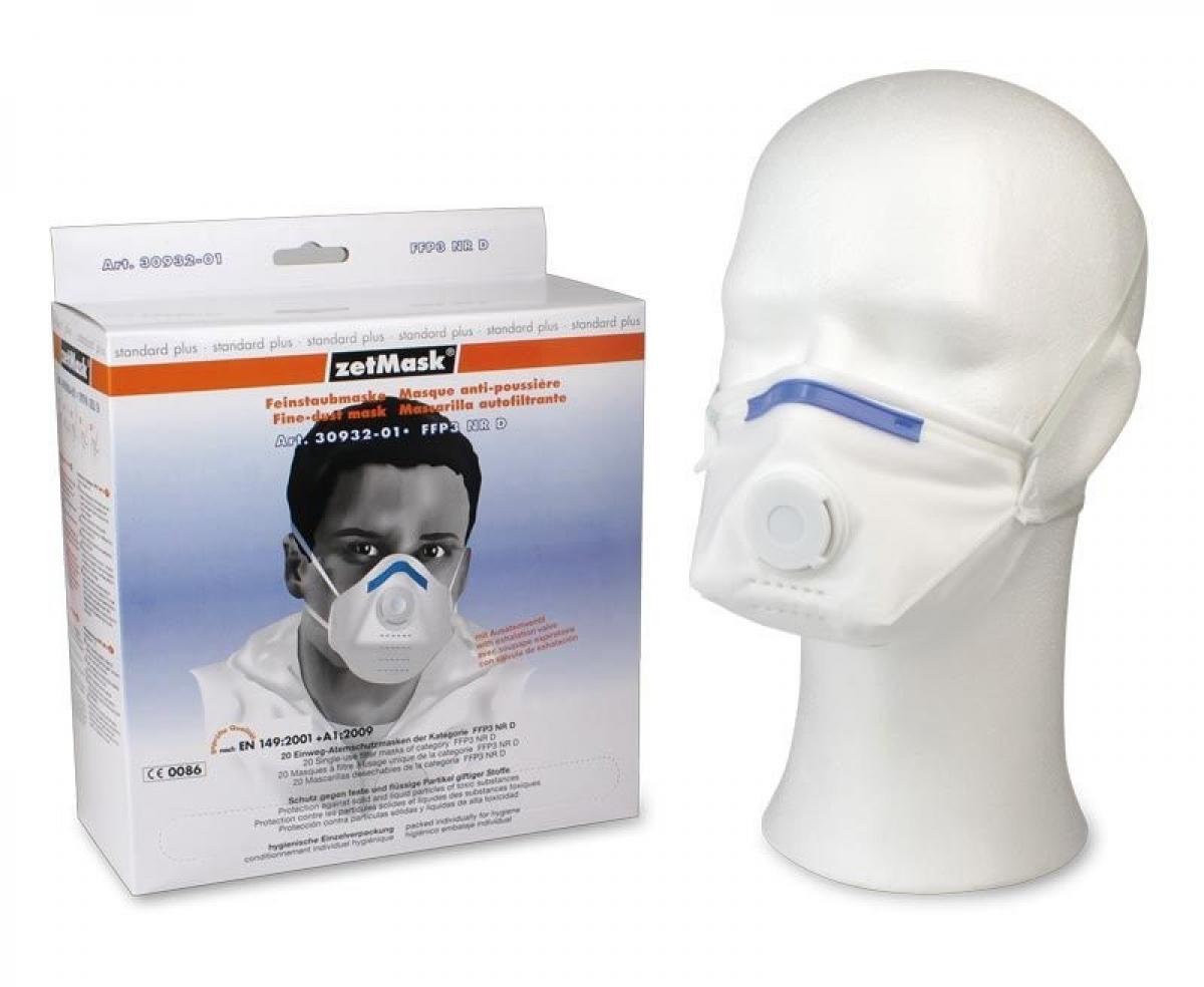 zetmask psa atem schutz einweg fein staub filter maske ffp3 nr d gefaltet en 149 2001 ve. Black Bedroom Furniture Sets. Home Design Ideas