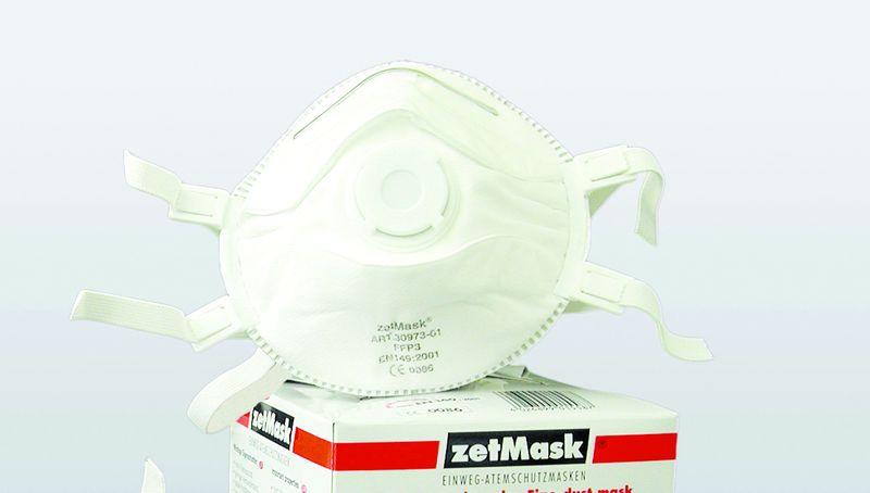 zetmask psa atem schutz maske einweg fein staub filter maske ffp3 nr d en149 2001 ve 60. Black Bedroom Furniture Sets. Home Design Ideas