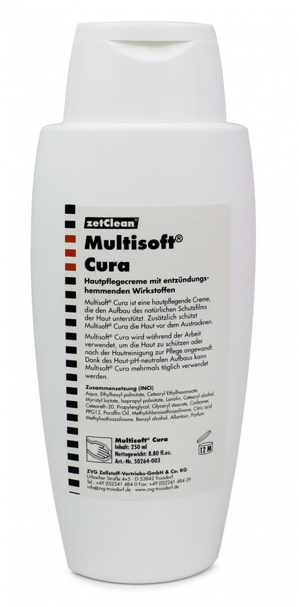 zetclean hautpflegecreme multisoft cura ve 24 flaschen a 250 ml. Black Bedroom Furniture Sets. Home Design Ideas