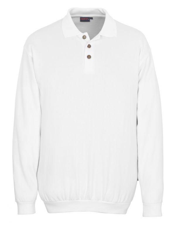 MASCOT-Workwear, Polo-Sweatshirt, Trinidad, 310 g/m², weiß