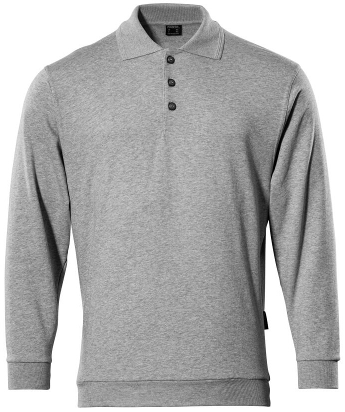 MASCOT-Workwear, Polo-Sweatshirt, Trinidad, 310 g/m², grau-meliert