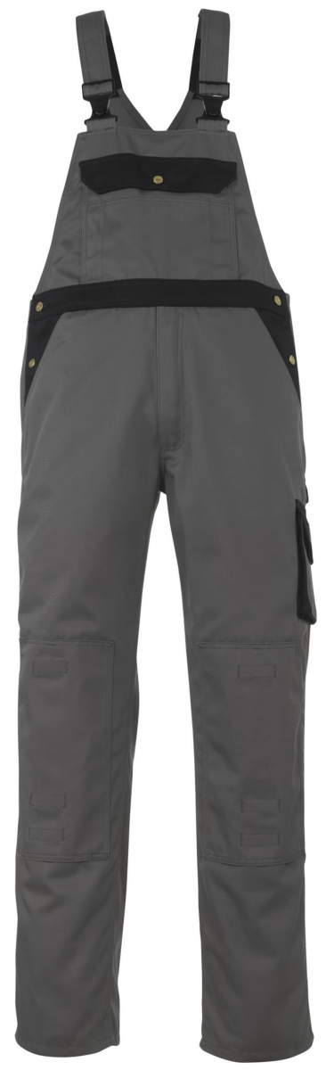 MASCOT-Workwear, Arbeits-Berufs-Latz-Hose, Monza, 82 cm, 355 g/m², anthrazit/schwarz